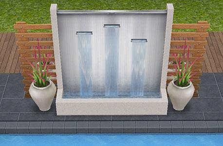 オアシスの水壁(The Sims フリープレイ)