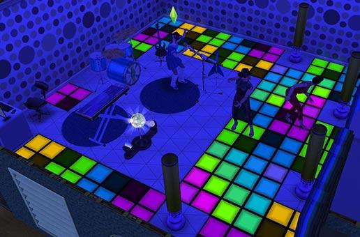HANSで青くなったライブホール(The Sims フリープレイ)