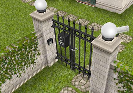 ティーンアイドルのマンション 徒歩用の通用門(The Sims フリープレイ)