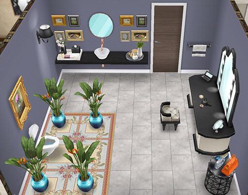 お手洗い&化粧室(The Sims フリープレイ)