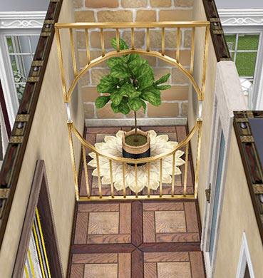廊下のデコレーション(The Sims フリープレイ)