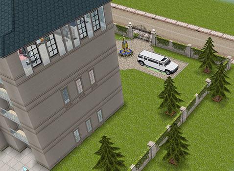 映画スターの大豪邸タワー 外観(The Sims フリープレイ)