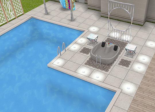 プールとホットタブ(The Sims フリープレイ)