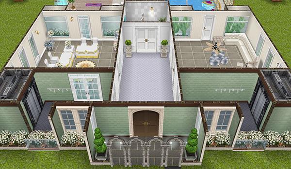 映画スターの大豪邸タワー 1階(The Sims フリープレイ)