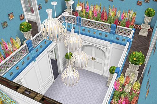 玄関ホールの吹き抜け(The Sims フリープレイ)