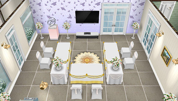 ゲストダイニングルーム(The Sims フリープレイ)