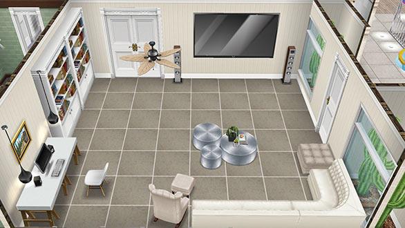 リビングルーム(The Sims フリープレイ)