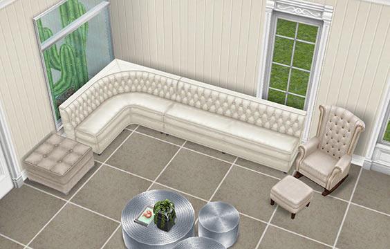 リビングルームのソファ(The Sims フリープレイ)