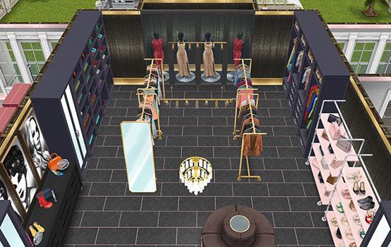 ウォークインクローゼット(The Sims フリープレイ)