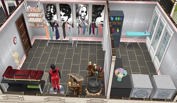 クリーニング&お直しルーム(The Sims フリープレイ)