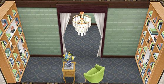 ミニ図書室(The Sims フリープレイ)