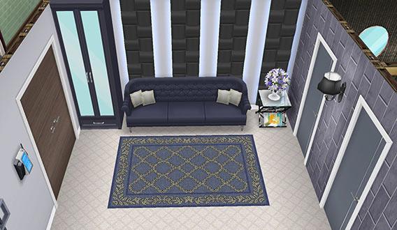 ゲスト用ベッドルーム リビングスペース(The Sims フリープレイ)