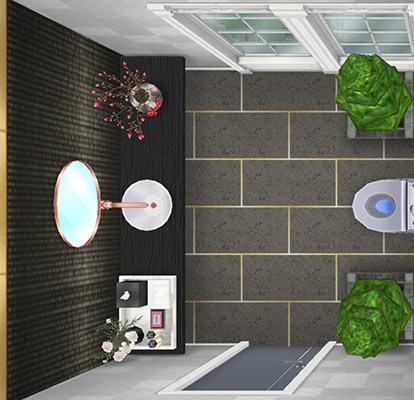 ゲストベッドルーム用お手洗い(The Sims フリープレイ)