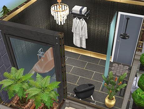 ゲスト用ベッドルームのバスルーム(The Sims フリープレイ)