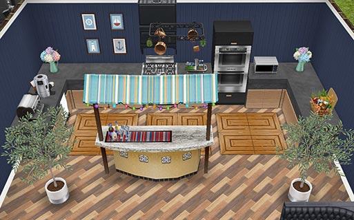 地下映画館ロビーのバー(The Sims フリープレイ)