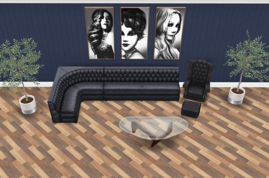 地下映画館ロビーソファ(The Sims フリープレイ)