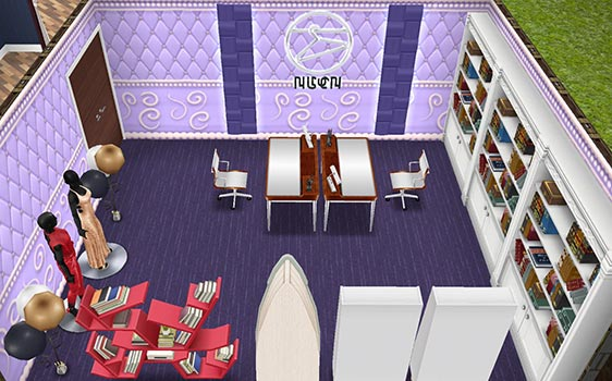 スター女優のミニ記念館(The Sims フリープレイ)