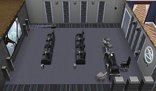 ホームシアタールーム(The Sims フリープレイ)