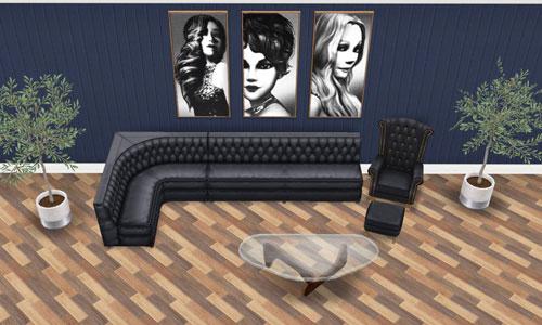 地下映画館のロビーソファ(The Sims フリープレイ)