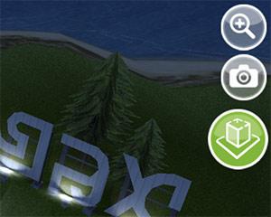 ARモード ボタン(The Sims フリープレイ)