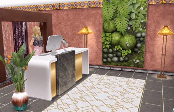 ARモードで見る、美容スパ、受付エリア(The Sims フリープレイ)
