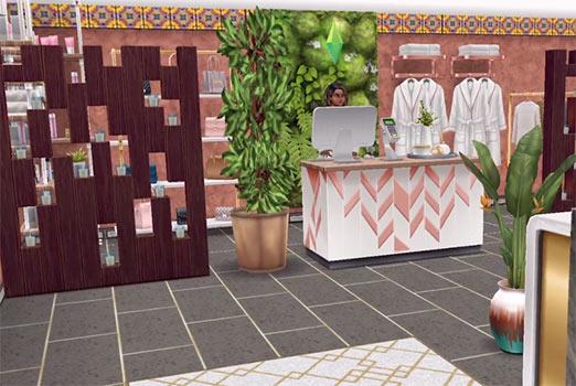 ARモードで見る、サービスカウンターエリア(The Sims フリープレイ)