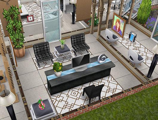 デザイナーズ住宅1オフィス(The Sims フリープレイ)