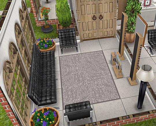 デザイナーズ住宅1メディアルーム(The Sims フリープレイ)