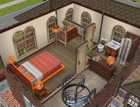 デザイナーズ住宅1寝室(The Sims フリープレイ)