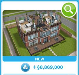 ショップに並ぶデザイナーズ住宅2(The Sims フリープレイ)