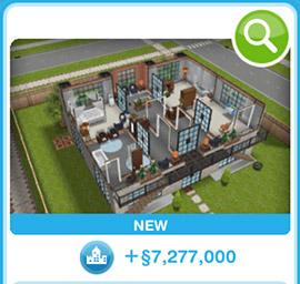 ショップに並ぶデザイナーズ住宅3(The Sims フリープレイ)