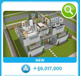 ショップに並ぶデザイナーズ住宅4(The Sims フリープレイ)