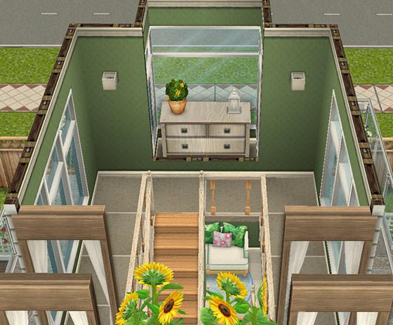 デザイナーズ住宅4、階段の踊り場(The Sims フリープレイ)
