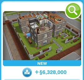ショップに並ぶデザイナーズ住宅5(The Sims フリープレイ)