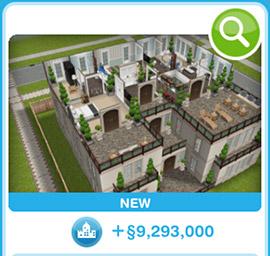 ショップに並ぶデザイナーズ住宅6(The Sims フリープレイ)