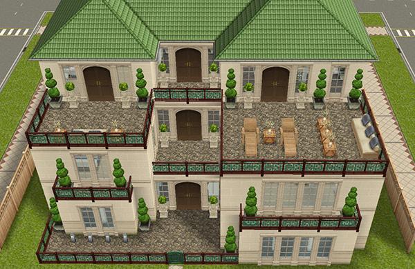 デザイナーズ住宅6正面外観(The Sims フリープレイ)