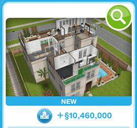 ショップに並ぶデザイナーズ住宅7(The Sims フリープレイ)