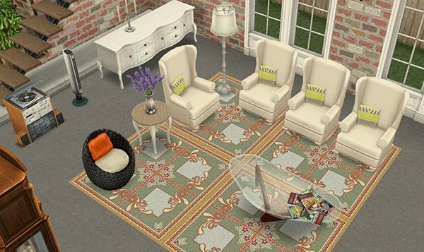 デザイナーズ住宅7リビングルーム(The Sims フリープレイ)