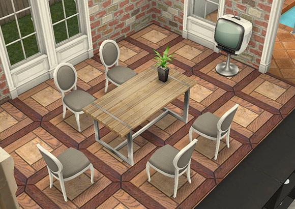 デザイナーズ住宅7ダイニングルーム(The Sims フリープレイ)