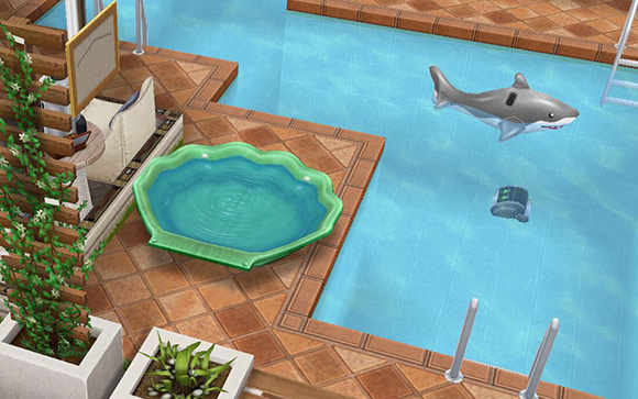 デザイナーズ住宅7プールサイド(The Sims フリープレイ)