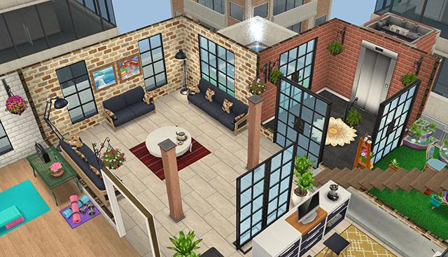 ペントハウス(The Sims フリープレイ)