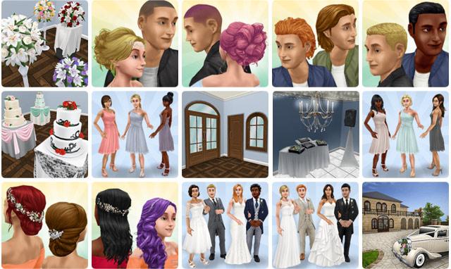 結婚式の美女たちイベント報酬(The Sims フリープレイ)