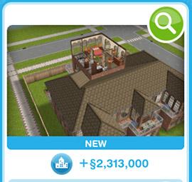 ショップに並ぶデザイナーズ住宅1(The Sims フリープレイ)