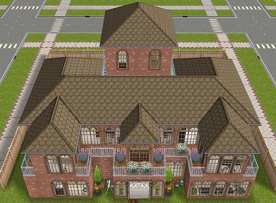 デザイナーズ住宅1外観(The Sims フリープレイ)