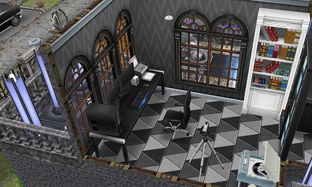 ゴーストハウス:メディアルーム(The Sims フリープレイ)