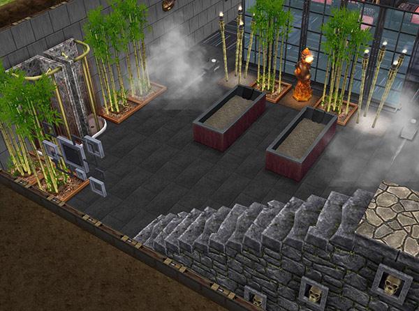 ゴーストハウス地下:地獄風呂スパ(The Sims フリープレイ)