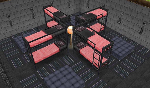 ゴーストハウス:輪になって寝れるベッドエリア(The Sims フリープレイ)