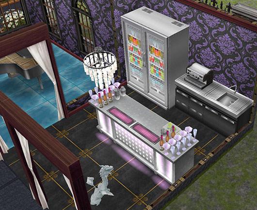 ゴーストハウス:バーの小部屋(The Sims フリープレイ)