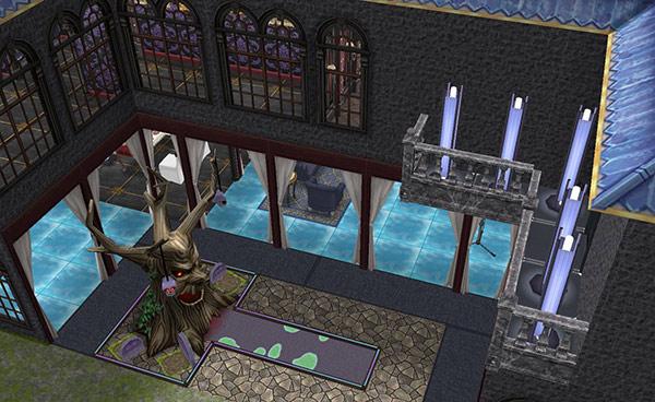 ゴーストハウス庭:金縛りのパットグリーン(The Sims フリープレイ)