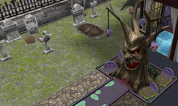金縛りのパットグリーンとお墓(The Sims フリープレイ)